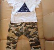 Комплект для мальчика футболка и брюки (бриджи)