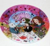 Тарелка Алиса в стране чудес (Безумное чаепитие)
