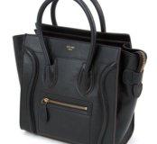 Сумка Celine Micro Luggage Handbag in Dark Taupe