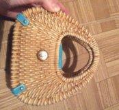 Керамическая шкатулка-корзинка