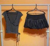 Кофта с юбкой, верх - р. 42-44, юбка - р. 44-46