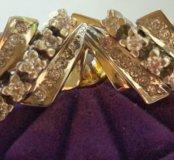 Золотые серьги с бриллиантами Дорожка