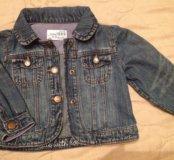 Стильная новая джинсовка gap baby на 12-18 мес