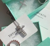 Крестик кольцо Тиффани