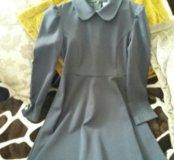 Платье школьное. Серого цвета.