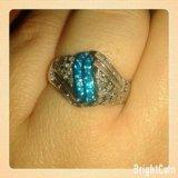 Кольцо с природными алмазами