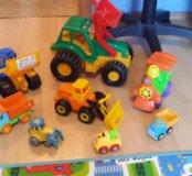 Строительные игрушки-машинки.Цена за все