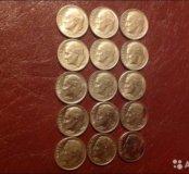 Монета one dime 76-2001г.