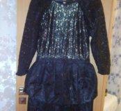 Брендовое черное платье