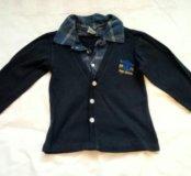 Рубашка трикотажная комбинированная 116-122 р-р