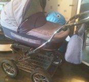 Детская коляска 2 в 1. Люлька, прогулочный блок