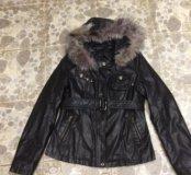 Куртка кожаная,деми,новая,размер 42-44