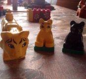 Lego Duplo животные, человечки