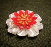 Цветы из атласных лент (канзаши)