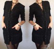 Брендовое чёрное платье (CHANEL)