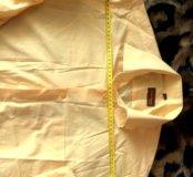 Рубашка мужская желтая