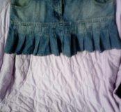 Юбка джинсовая на бедрах ОБ 100 см