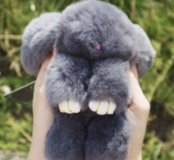 Брелок меховой заяц кролик 🐰