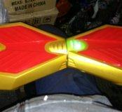 Гироскутер красно-золотистый, 8 д. LED, sn8354