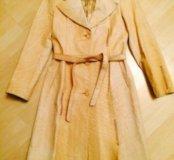 Новое кожаное пальто Cerruti 1881 оригинал