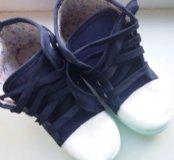 Детские кеды на шнуровке, новые!