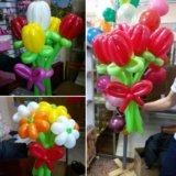 Букет из шаров. 250 р за 5 цветочков