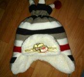 Зимняя шапочка на малыша до года