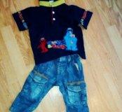 Джинсы и футболка на мальчика