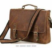 Мужской кожаный бизнес портфель сумка ноутбука