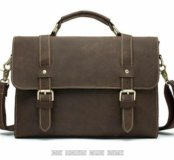 Мужской кожаный портфель сумка с ручкой плечо пояс