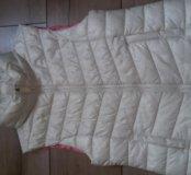 Белая дутая жилетка Zara 134
