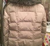 Шикарная стёганая куртка с мехом