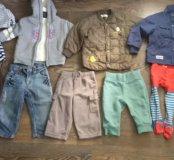Пакет вещей и обувь на мальчика