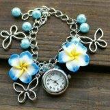 Часы браслет с цветами