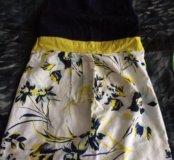 Льняной сарафан для будущих мамочек,и футболка