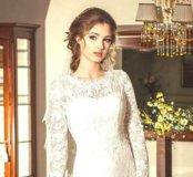 Свадебное,кружевное платье!