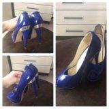Туфли синие