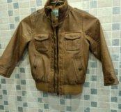 Кожаная курточка 3-4 года