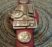 Кожаный мужской браслет