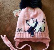 Зимняя шапочка (натуральный помпон) НОВАЯ
