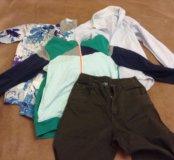 Большой пакет одежды на мальчика 11-12 лет