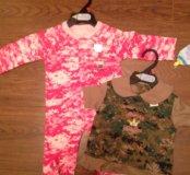 Боди и платье США 0-3