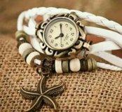 Часики с морской звездочкой белые