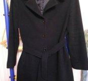 Пальто класическое чёрное весна-осень