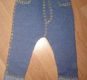 Тёплые вязаные штанишки