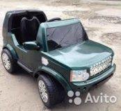 Электромобиль lend rover 6v