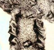 Шарф с леопардом