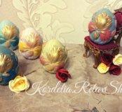 Подарок на пасху (мыло в форме пасхальных яиц)