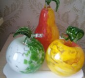 фрукты из стекла