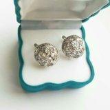 Серебряные сережки